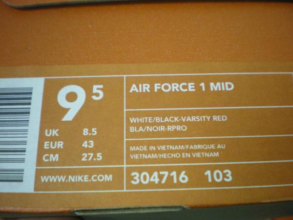 ナイキ NIKE AIR FORCE 1 304716 103 (2)