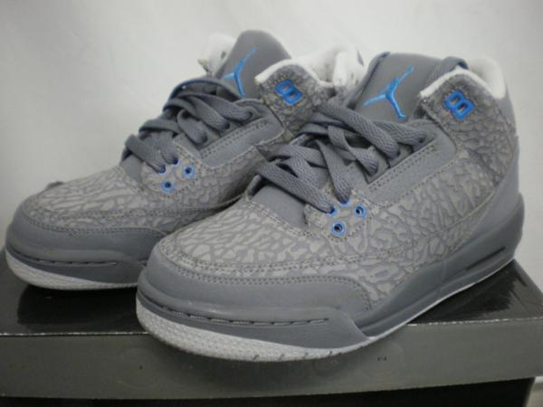 NIKE  GIRLS AIR JORDAN 3 RETRO GS 441140 015