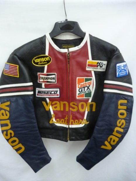 バンソン VANSON レザージャケット シングルライダース ワンスター ワッペン フルデコ