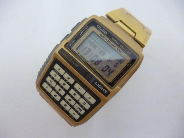 カシオ DATABANK WAVE SEPTOR データバンク DBC-W151 ゴールド 電波時計蓄光10キー 腕時計