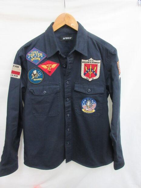 アヴィレックス AVIREX ミリタリーシャツ TOP GUN MILITARY SHIRTS 長袖シャツ 6105143