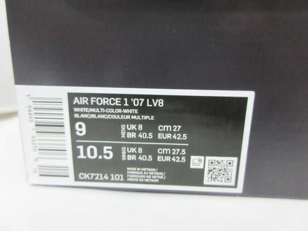 ナイキ NIKE AIR FORCE 1 LOW '07 LV8 エアフォース CK7214-101 スニーカー